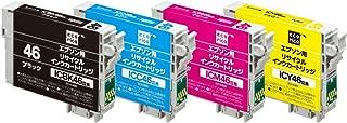 【Amazon.co.jp限定】 エコリカ エプソン(EPSON)対応 リサイクル インクカートリッジ(エプソン) IC4CL46 4色パック EC-IC4CL46A (FFP・封筒パッケージ) (目印:サッカーボール)