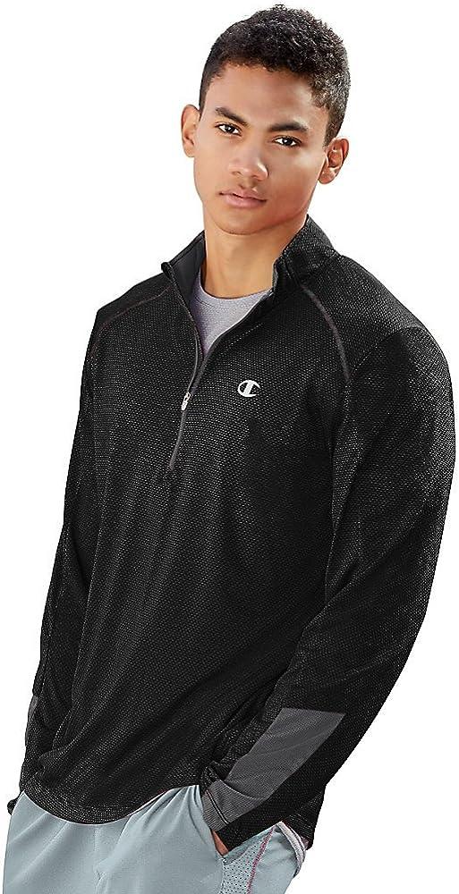 Champion Men's Double Dry 6.2 Half-Zip Jacket