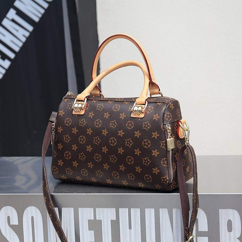 Creative Fashion MultiFunction Pattern Handbag Handbag Boston Pillow Bag Simple All Match Temperament Diagonal Bag for Women