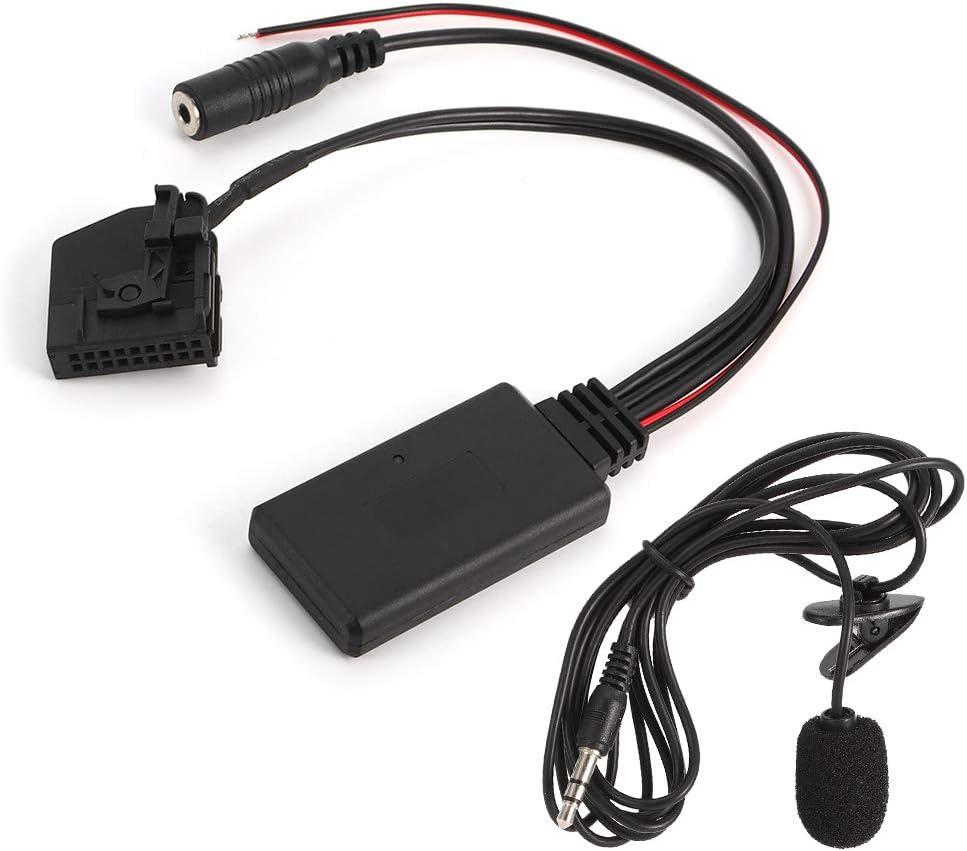 zhuolong Adaptador de Cable Auxiliar Bluetooth de 18 Pines, micrófono de Coche para Mercedes Benz Comand 2.0 W211 W208 W168 W203