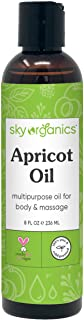 Apricot Oil by Sky Organics (8 fl oz) 100% Pure Natural and Cold-Pressed Apricot Kernel Skin Oil Apricot Ma...