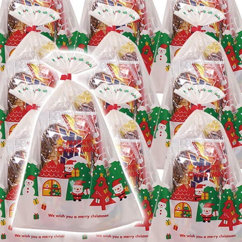 クリスマス袋 チョコモナカ & しみチョココーンスティックロング 袋詰め 25袋セット 詰め合わせ 駄菓子 おかしのマーチ