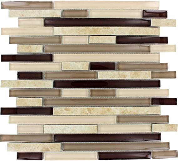 amalfi cafe interlocking 12 in x 12 in x 6 mm glass and porcelain mesh mounted mosaic wall tile 5