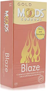 Moods Gold Blaze Dotted Condoms - 12 Pieces