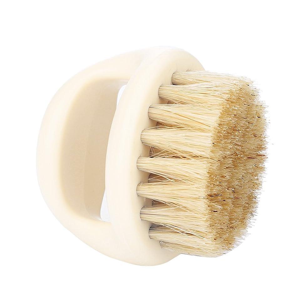 タイプライタールーフ取得するSoarUp シェービングブラシ 100% イノシシの毛 速乾性 男性用  父の日のプレゼント トリミングブラシサロンシェービングツール 柔らかい 濃密に充填された 洗顔ブラシ(白い毛+白いハンドル)