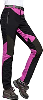 LHHMZ Mujeres Pantalones Impermeables de Senderismo