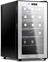 COSTWAY Wine Cooler, 18 Bottles Freestanding Champagne Chiller, Counter Top Wine Cellar,..