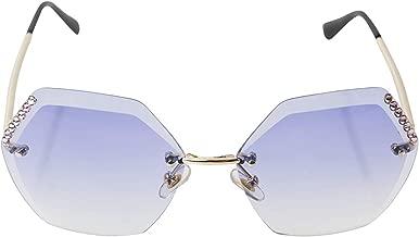 Bari Lynn Swarvoski Crystallized Octagon Sunglasses