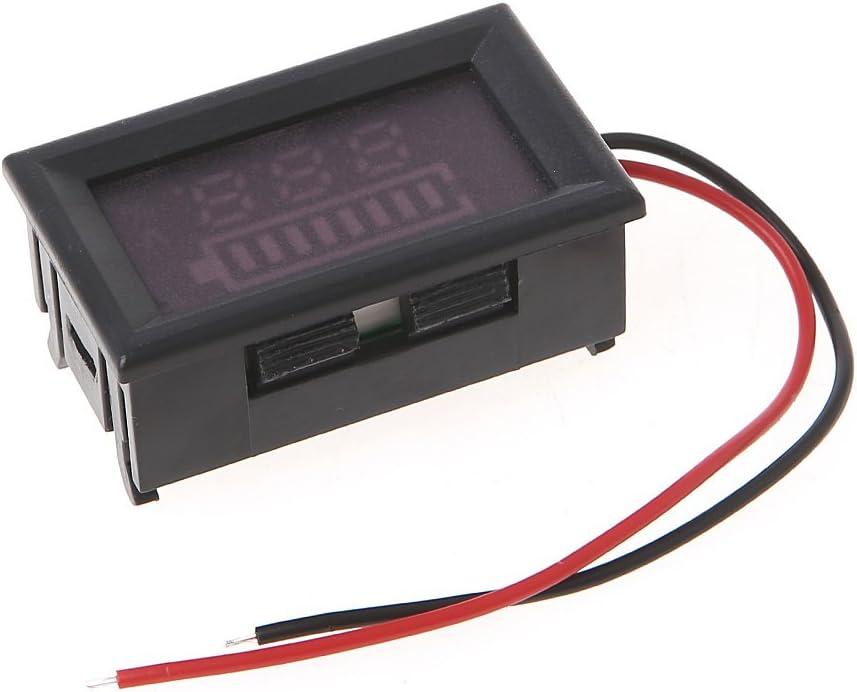 Abnana 12V Battery Power Capacity LED Indicator Digital Voltmeter Tester