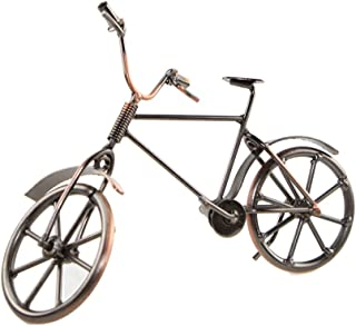 UNIGIFT Creative Vintage Iron Art Retro Bicycle Model Home Desk Workplace Office Decoration Gifts (Red Copper)