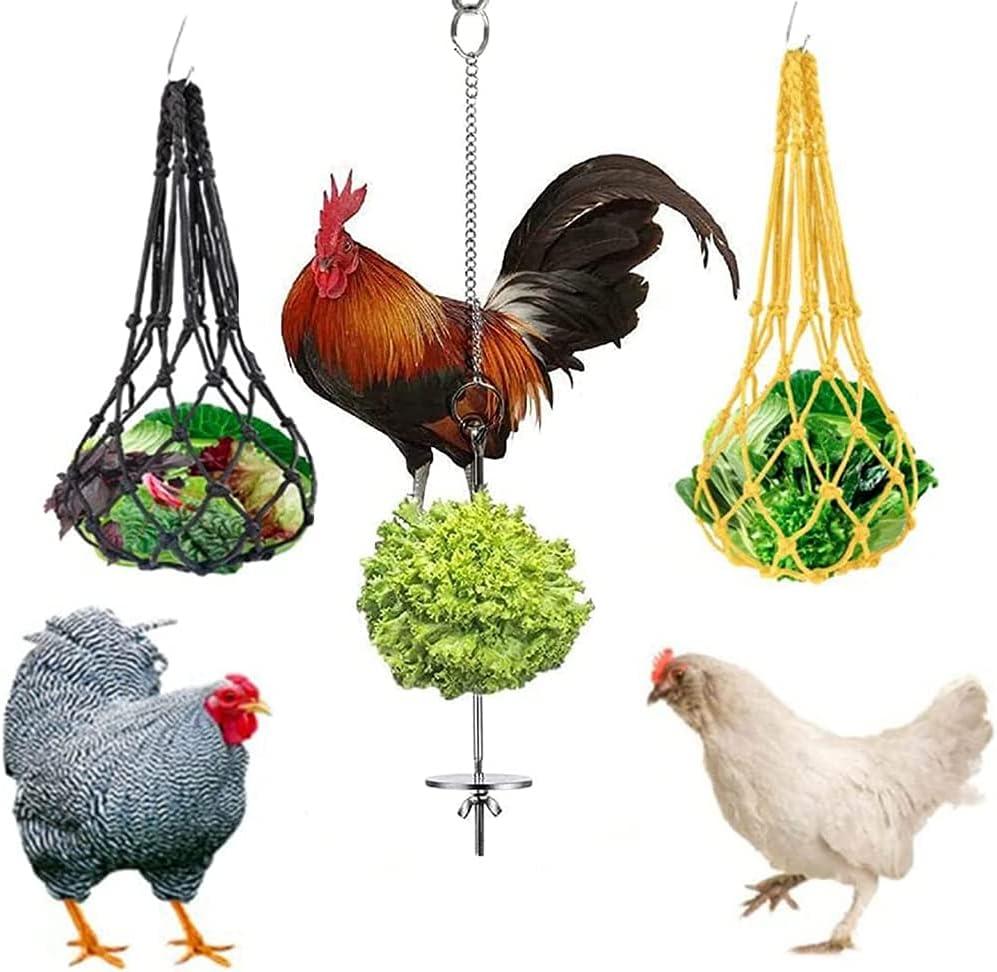 Egdu Louisville-Jefferson County Mall Chicken Philadelphia Mall Vegetable String Bag Mesh Feed Feeding Polyest