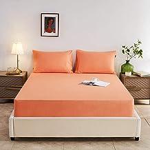 Supermjukt lakan,Bomull ren färg lakan hushålls madrass dammskydd-M_180x200x28cm,Mjukt lakan