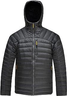HARD LAND Men's Packable Down Jacket Hooded Lightweight Winter Puffer Coat Outerwear