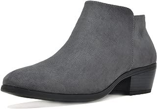 Women's Block Heel Side Zipper Ankle Booties