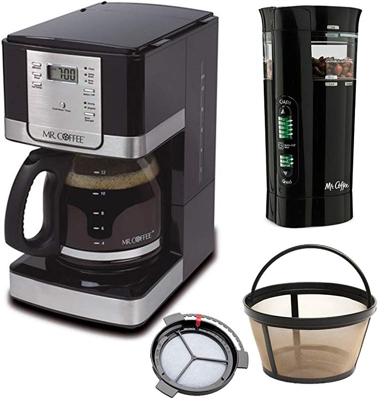 Mr Coffee Programmable Coffee Maker And Bonus Grinder 12 Cup