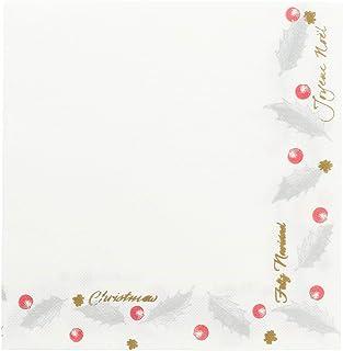 garcía de POU 188.35Serviettes Double point New Noël, 18G/m2, 40x 40cm, Blanc