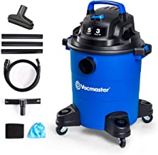 Vacmaster 3 Peak HP 5 Gallon Wet Dry Vacuum Cleaner Lightweight Powerful Suction Shop Vacs with Blower Function for Dog Ha...