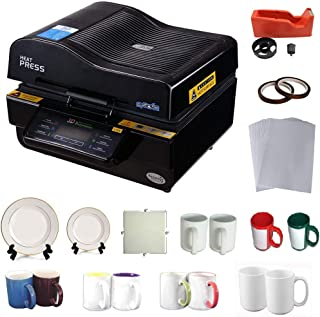 INTBUYING 3D Vacuum Heat Press Machine Sublimation Transfer Mug Plate Tile T-Shirt CISS Tape Printing Business
