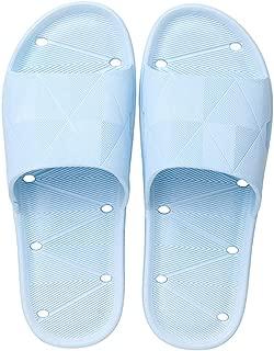 Bathroom Slippers, Fast Dry Slippers, Bath Slippers for Women Men Anti-Slip Shower Slippers Sandals Slip-On,Blue,S