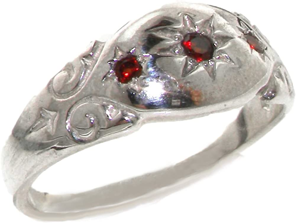 925 Sterling Silver Natural wholesale Garnet Womens Band Ring Sizes - to Ranking TOP20 4