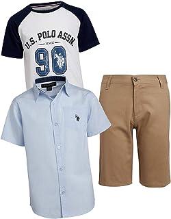 U.S Boys Midweight Nylon Bubble Jacket US Polo Association O/_UD09H Polo Assn