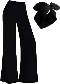 Palazzo Pant Women's Stretchy Wide Leg Pants Lounge Pants with Headband