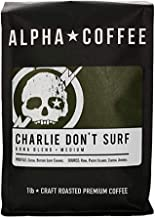 Alpha Coffee - Charlie Don't Surf | 16 oz. Premium Gourmet Craft Kona Blend Whole Coffee Beans | Veteran Owned - Specialty...