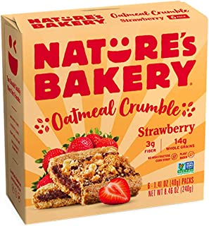 Nature's Bakery Nature's Bakery Oatmeal Crumble Bars, Strawberry, Real Fruit, Vegan, Non-Gmo, Breakfast bar, 1 Box With 6 ...