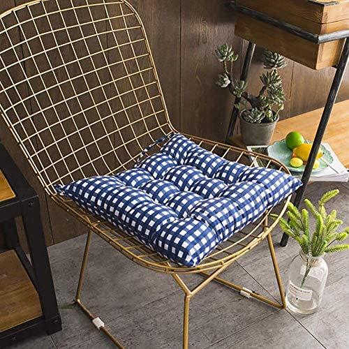 Cojín para silla de comedor, transpirable, para jardín, patio, cocina, oficina, oficina, cojín de goma suave, 40 x 40 cm, tamaño: 40 x 40 cm, color: rojo