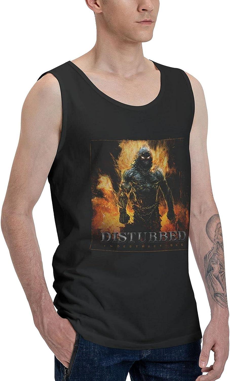 Disturbed Indestructible Tank Top Men's Summer Sleeveless Shirts Novelty Vest