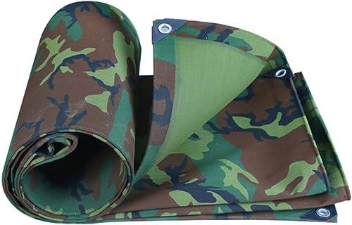 YUJIE Bache De Prougeection De Toile De Camouflage Bache épaisse Imperméable à l'eau Prougeection Solaire Bache Auvent Tente De Tente épaisseur De Bache 0,7 Mm, 500 G   M2, 9 Options De Taille