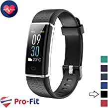 Pro-Fit VeryFitPro Fitness Tracker Color Screen Activity Tracker Heart Rate Sleep Monitor IP67 Waterproof Pedometer Watch (ID130C)