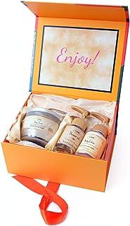 [サボン] SABON Gift Set Patchouli Lavender Vanilla ギフトセット ボディスクラブ ボディローション シャワーオイル ショップバッグ付 (セット)