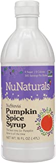 NuNaturals Premium Plant Based Pumpkin Spice Syrup, Sugar-Free, Stevia Sweetened, 16 Ounce