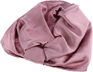 Baosity 100% Silk Sleep Night Cap Hat Head Cover Bonnet For Hair Beauty
