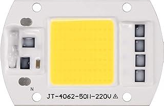 Donpow - Set 3 chip COB a LED, ingresso 220 V, 100 W, colore luce bianco freddo, Smart Driver IC integrato, per proiettori spotlight fai-da-te 5 Pack bianco
