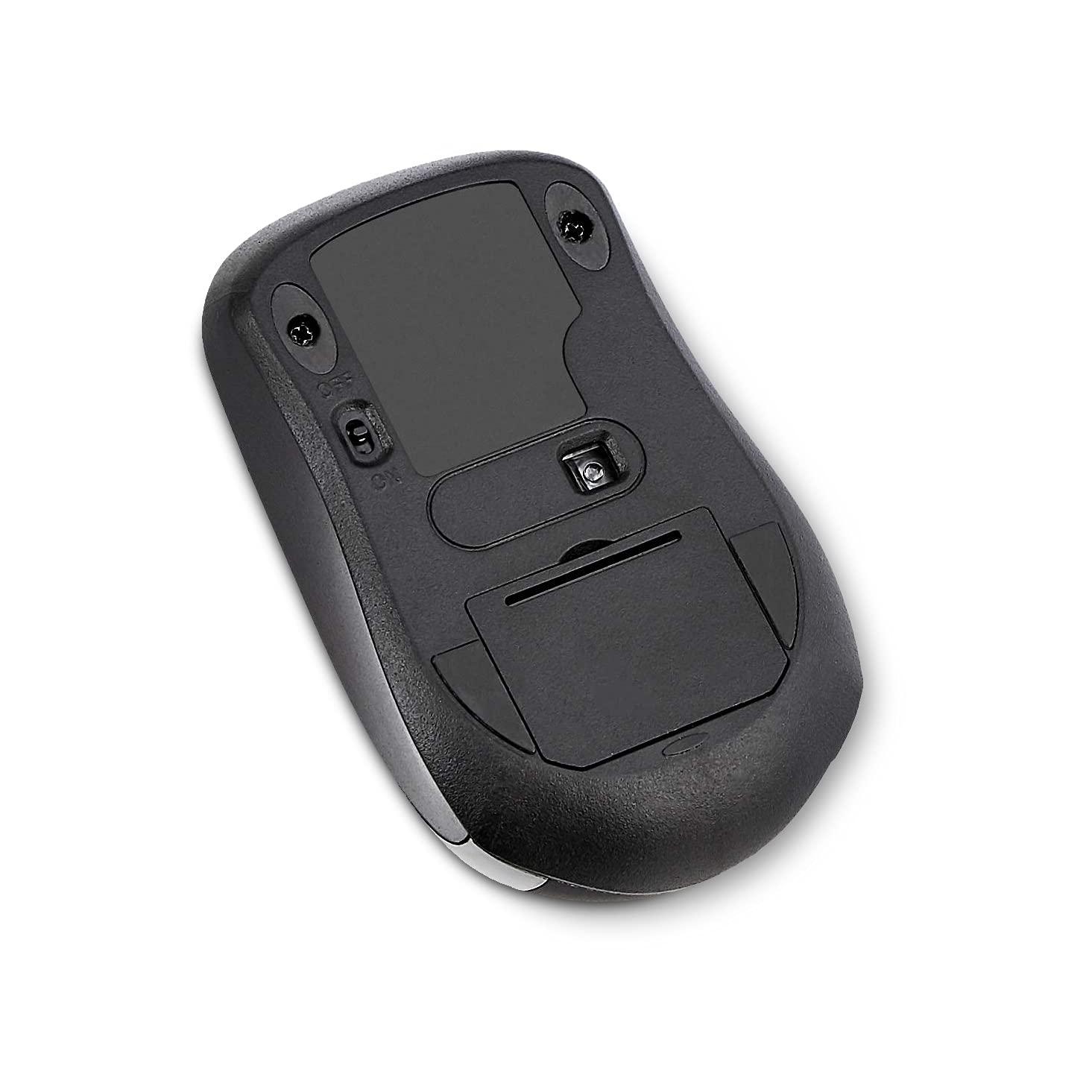 Amazon Basics Wireless Computer Mouse with USB Nano Receiver - Black