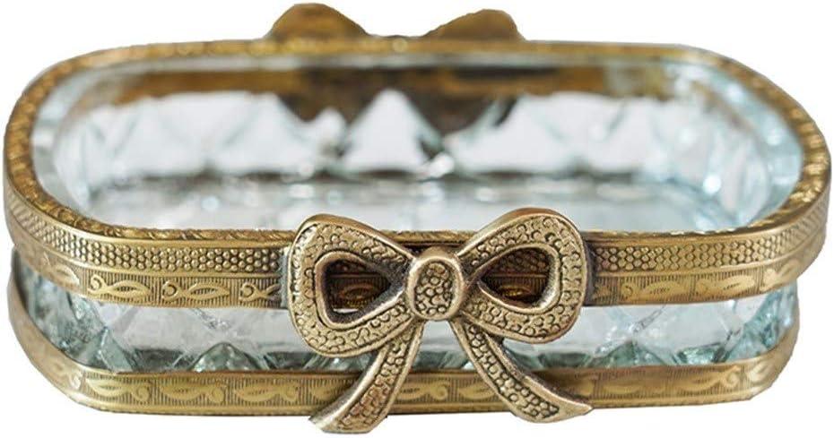 Seasonal Wrap Introduction Jiabao Soap Dish In stock Holder Multi-Functional Bow Bo Brass Glass