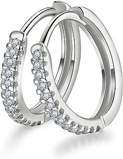 Best tiny platinum hoop earrings Reviews
