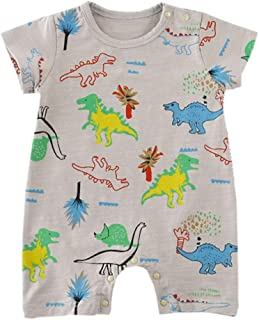 Fairy Baby Infant Baby Boys Summer Outfit One-Piece Romper Cotton Cartoon Dinosaur Jumpsuit