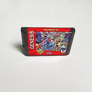 Lksya Rockman X3 - Carte de jeu MD 16 bits pour cartouche de console de jeu vidéo Sega Megadrive Genesis (coquille américa...