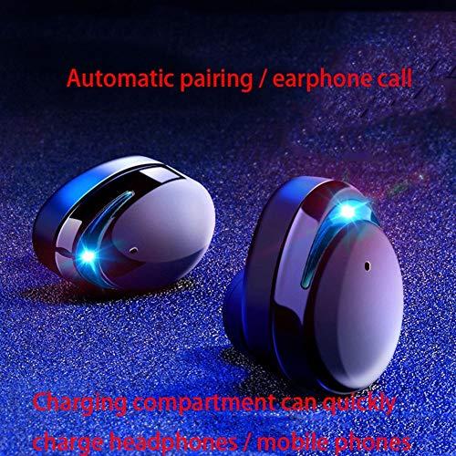 Praktische draadloze bluetooth-hoofdtelefoon, sportief, in combinatie met Binaurale oorbel mini ultra-Piccolo, lang, onzichtbare oordopjes, oordopjes voor Apple subwoofer waterdicht unisex, Blue light