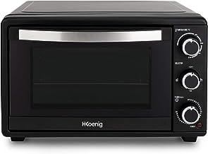 H.Koenig Mini Four 25L Electrique FO25 Posable Compact Multifonction Performant 1500W Programmable 4 modes de cuisson, 23...