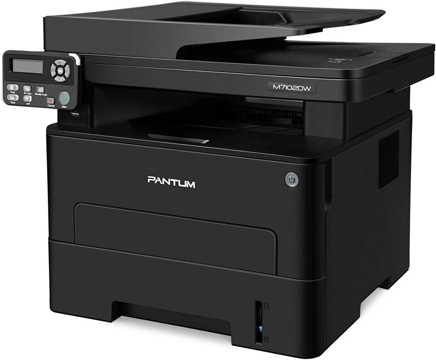 All in One Laser Printer Scanner Copier with ADF, Wireless Multifunction Black and White Laser Printer, Auto Duplex Printing Pantum M7102DW (W5U61A)