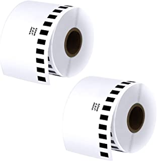 Batrical DK-2205 Continuous Paper Labels, for Brother QL Label Printers, 2 Rolls (2.4 Inch X100ft)