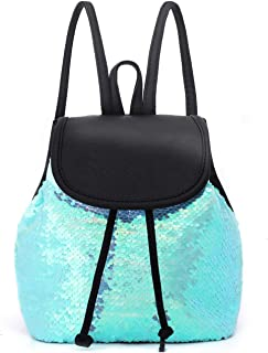 yisi Flip Sequins Mini Backpack Small Backpack Purse for Teen Girls Gift for School