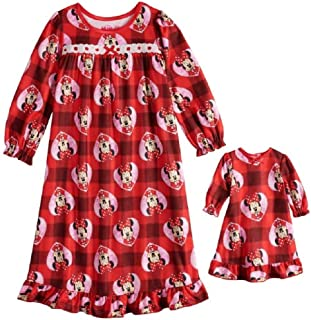 85a6592c70 AME Disney s Minnie Mouse Plaid Granny Nightgown   Matching Doll Gown -  Toddler Girl