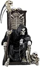 DWK – Dark Master – Grim Reaper Skeleton on Throne with Pet and Scythe..