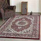 VIMODA Alfombra clásica Muy tupida con Motivo Oriental en Color Rojo - Calidad excelente, Maße:120 x 170 cm