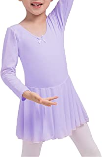 Dancina Mädchen Ballettkleid Langarm aus Baumwolle